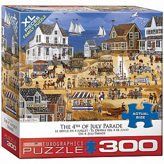 300 pc - XL Puzzle Pieces - 4th of July Parade by Carol Dyer
