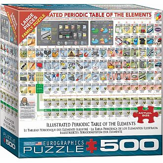 500 pc - Large Puzzle Pieces - Illustrated Periodic Table of the Elements