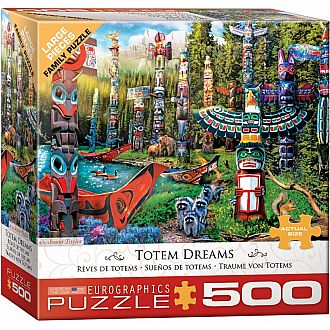 500 pc - Large Puzzle Pieces - Totem Dreams by Jason Taylor