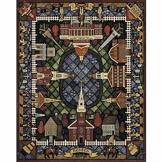Boston Quilt 6x9 Wood Puzzle with Frame
