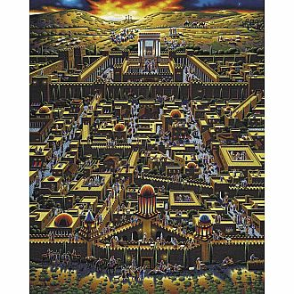 Jerusalem 6x9 Wood Puzzle with Frame