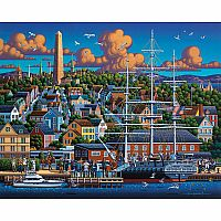 Boston Historical 6x9 Wood Puzzle with Frame