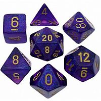 Royal Purple/Gold Polyhedral 7-Die Set