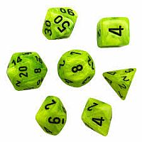 Vortex Bright Green/Black Polyhedral 7-Die Set