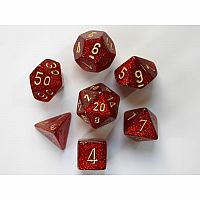 Chessex Dice: Glitter Ruby/Gold