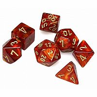 Chessex Dice: Scarlet/Gold Scarab