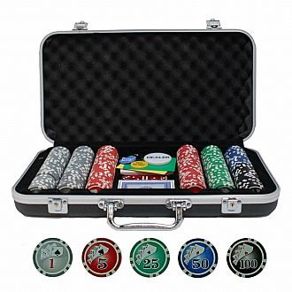 BLK Aluminum Poker Set 300