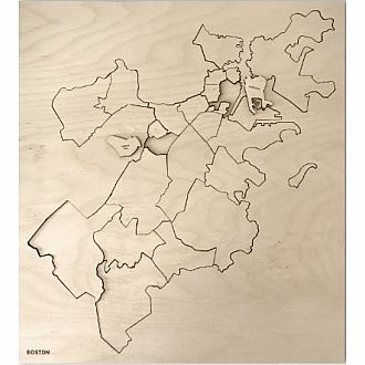 Boston Neighborhood Wooden Puzzle