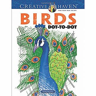 Birds Dot-to-Dot (Adult Coloring)
