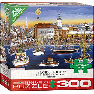 300 pc - XL Puzzle Pieces - Seaside Holiday by Carol Dyer