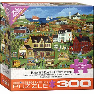 300 pc - XL Puzzle Pieces - Harvest Days in Cove Point by Carol Dyer
