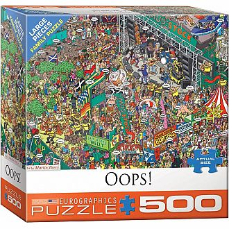 500 pc - Large Puzzle Pieces - Oops! by Martin Berry