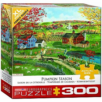 300 pc - XL Puzzle Pieces - Pumpkin Season by Bob Fair