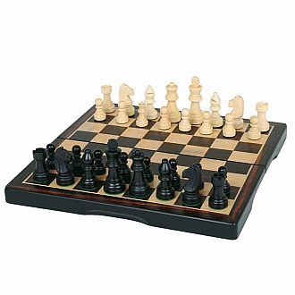 "3-in-1: 11"" Dark Wood Game Set"