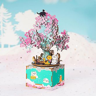 Cherry Blossom Tree DIY Wooden Music Box