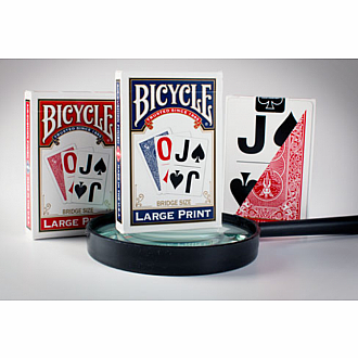 Bicycle Bridge Size Large Print Playing Cards