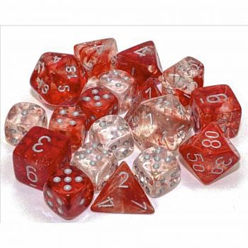 Nebula Dice Set Red/Silver