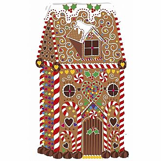 Festive Gingerbread House