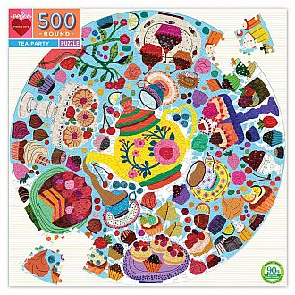 Tea Party Round (Eeboo, 500pc)