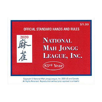 Mah Jongg Card 2020 - Large Print