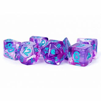 Unicorn Resin Polyhedral Dice: Violet Infusion