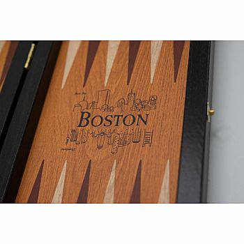 Backgammon Travel Edition with Boston in Relief