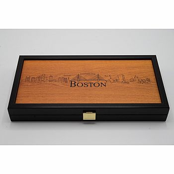 Backgammon  with Boston in Relief