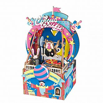 Amusement Park Circus DIY Wooden Music Box