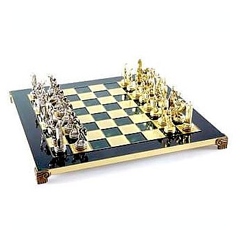 Greek Mythology Chess Set w/ Gold & Silver Chessmen