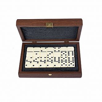 Dominoes 5 wDark Brown WoodenCase
