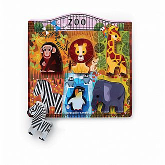 Let's Play: At the Zoo Wood Puzzle Playset (6 pcs)