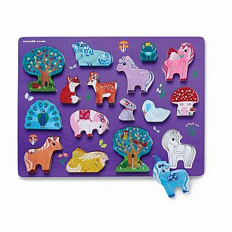 Let's Play: Unicorn Garden Wood Puzzle Playset