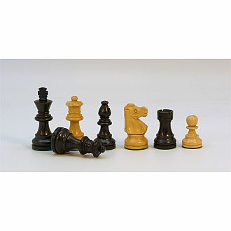 "Chessmen Black Boxwood 2.75"" King with Double Queen"