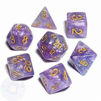 16mm Resin Polyhedral Set:Lavender