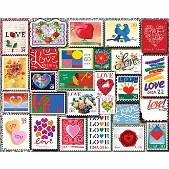 Love Stamps (White Mountain Puzzles 1000 pieces)