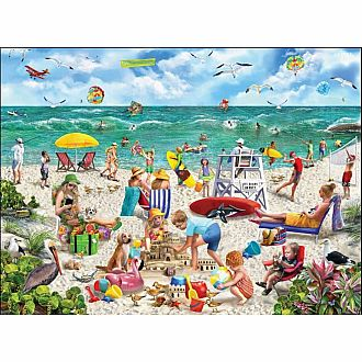 Seek & Find Beach Day (White Mountain Puzzles 1000 pieces)