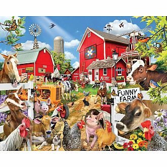 Seek & Find Funny Farm (White Mountain Puzzles 1000 pieces)