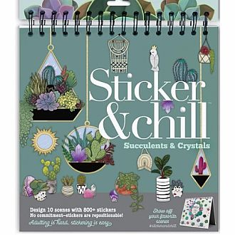 Sticker & Chill: Succulents and Crystals