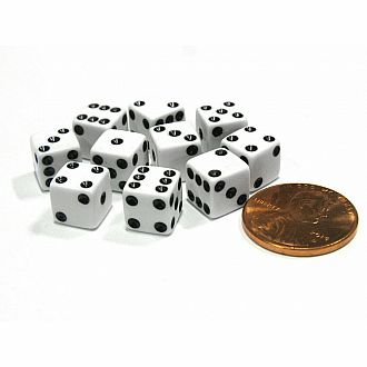 Chessex 12mm D6 White Dice