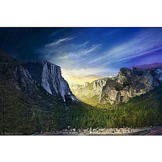 D2N: Tunnel View Yosemite Series by Stephen Wilkes