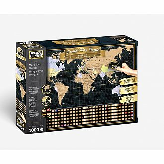 Scratch Off: World Map Travel Puzzle