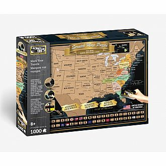 Scratch Off: USA Map Travel Puzzle