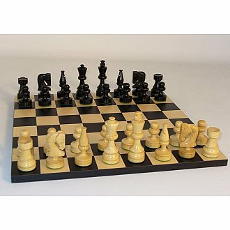 "Chess Set: Black Russian Style 3.75"" King"