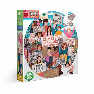 Climate Action 500 Pc Round Puzzle