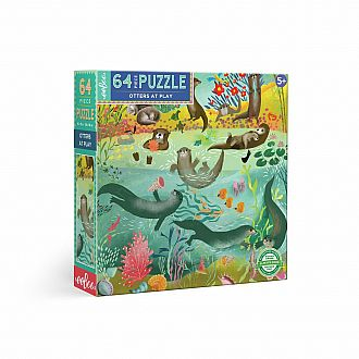 Otters at Play 64 Pc Puzzle