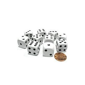 16mm White Dice