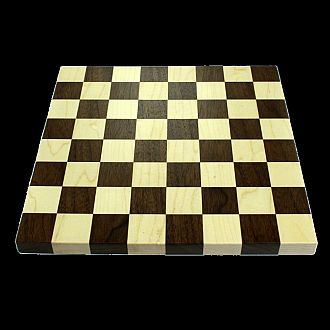"Chessboard: 16"" Walnut and Maple with 2"" Squares"