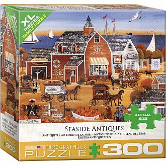 300 pc - XL Puzzle Pieces - Seaside Antiques by Carol Dyer