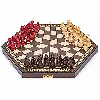 "Chess 3 player 18"" Folding Board"