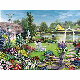 By the Pond (White Mountain Puzzles 1000pc)